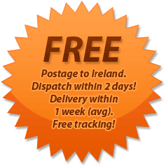 FREE - Postage to Ireland/Dispatch within 2 days!/Delivery within1 week (avg)./Free tracking!